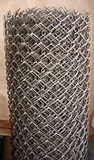 Сетка рабица, сетка рабица в рулонах, ячейка 30x30 мм, 10000x1000 мм,  д= 1.5 мм оц, фото 3