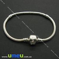 Основа для браслета PANDORA со стопперами, Светлое серебро, 21,5 cм, 1 шт. (OSN-007009)