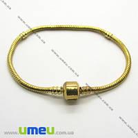 Основа для браслета PANDORA со стопперами, Золото, 19 cм, 1 шт. (OSN-011163)