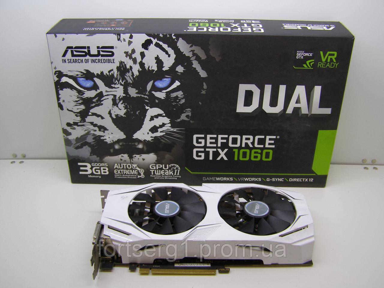 Видеокарта Asus PCI-Ex GeForce GTX 1060 Dual 3GB GDDR5 (192bit) (1569 d4fbfd3595d1d
