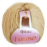 Зимняя пряжа Lanoso Alpacana 3005 25% альпака бежевая