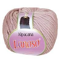 Зимняя пряжа Lanoso Alpacana 3008 25% альпака пудра