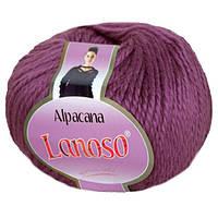 Зимняя пряжа Lanoso Alpacana 3009 25% альпака сливовая