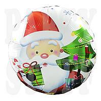 Новогодний фольгированный шарик Санта Клаус, 45 см