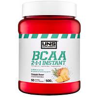 Амінокислоти UNS BCAA 2-1-1 Instant зі смаком ананасу (500 гр.)