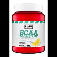 Амінокислоти UNS BCAA 2-1-1 Instant зі смаком лимону (500 гр.)
