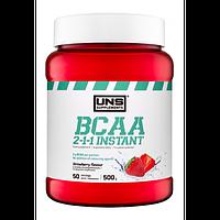Амінокислоти UNS BCAA 2-1-1 Instant зі смаком полуниці (500 гр.)
