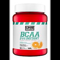 Амінокислоти UNS BCAA 2-1-1 Instant зі смаком апельсину (500 гр.)