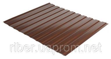 Профнастил ПС 8 - 0,40мм 1200х1700, RAL 8017 (шоколадно-коричневый)