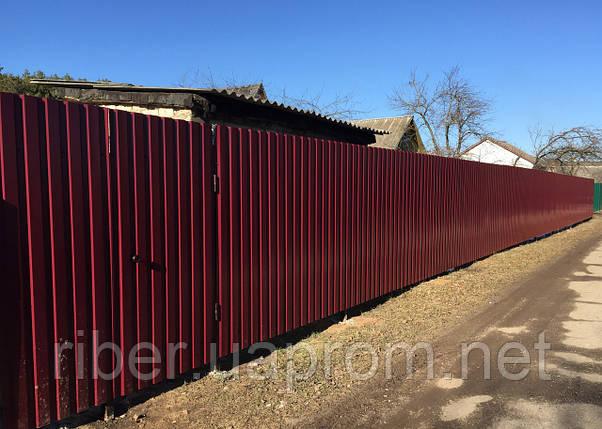 Профнастил ПС 8 - 0,40мм 1200х2000, RAL 3005 (винно-красный), фото 2