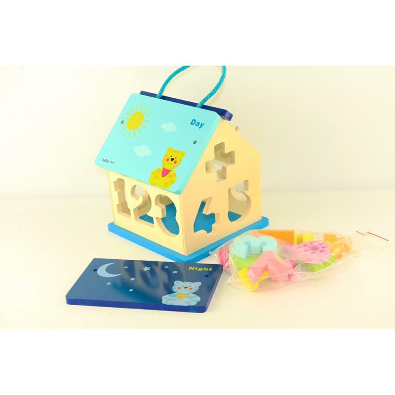 Деревянный домик сортер BABY MIX
