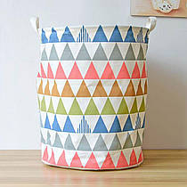 Корзина для игрушек на завязках Треугольники Berni