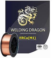 Сварочная проволока для сварки меди марки ERCu диаметр 1,2 катушка 5кг