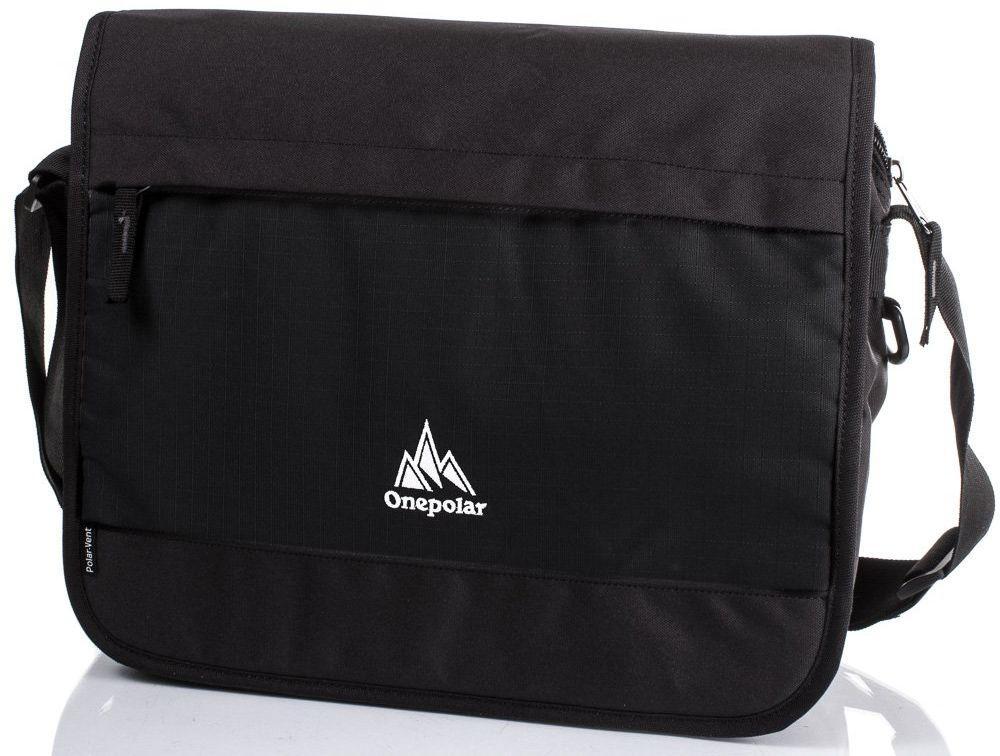 Мужская сумка-почтальон Onepolar W5004-black черная — только качественная продукция от SuperSumka