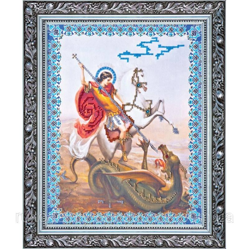 """Набор для вышивания бисером на холсте АбрисАрт """"Святой Георгий Победоносец"""" АВ-029"""