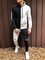 Спортивный костюм черно-белого цвета