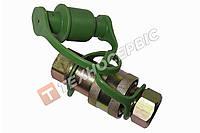 Роз'єм пневматичний (євро) М22х1,5 мама + тато, зелений, пневморазъем, повітряна розривна муфта (98862202)