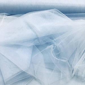 Фатин мягкий голубого цвета (шир. 3,0 м)