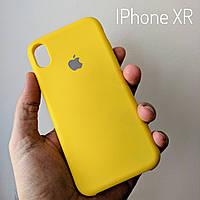 Желтый чехол-накладка СИЛИКОН КЕЙС для iphone xr #