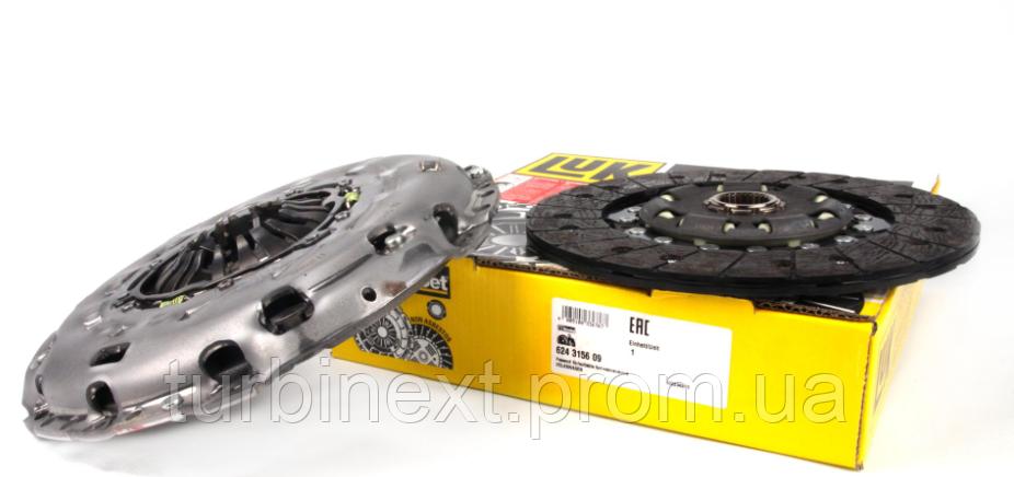 Комплект сцепления LuK 624 3156 09  VW T5 2.5TDI (96kw)