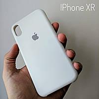 Белый чехол накладка СИЛИКОН КЕЙС для iphone xr XR #
