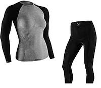 Комплект женского термобелья Tervel Comfortline L Черный с серым t0029, КОД: 124710