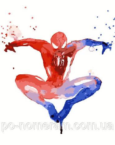 Раскраска для взрослых Человек паук Акварель (BRM5678) 40 ...