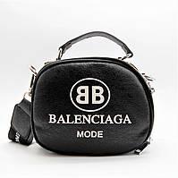 Шикарная женская кожаная сумочка BАLENCIАGА черного цвета IСС-200041, фото 1