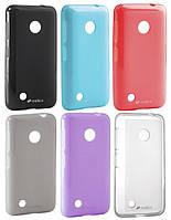 Чехол для Nokia Lumia 530 - Melkco Poly Jacket TPU (пленка в комплекте)