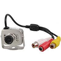 Цветная камера видеонаблюдения CCTV 208 Серебристый, КОД: 146742