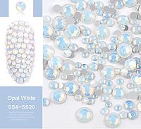 """Mix камней Swarovski разных размеров"""" Белый Опал"""", 720 шт"""