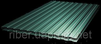 Профнастил ПС 8 - 0,40ми 1200х2000, RAL 6005 (зеленый мох)