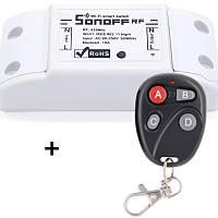 Sonoff RF Радио (433 МГц) + WIFI Беспроводной Выключатель Для Умного Дома c таймером ANDROID, iOS + Чёрный пульт дистанционного управления