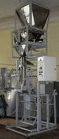 Полуавтомат фасовочно упаковочный для сыпучих продуктов, упаковка в ПП пленку.