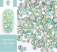 """Mix камней Swarovski разных размеров"""" Зеленый Опал"""", 720 шт"""