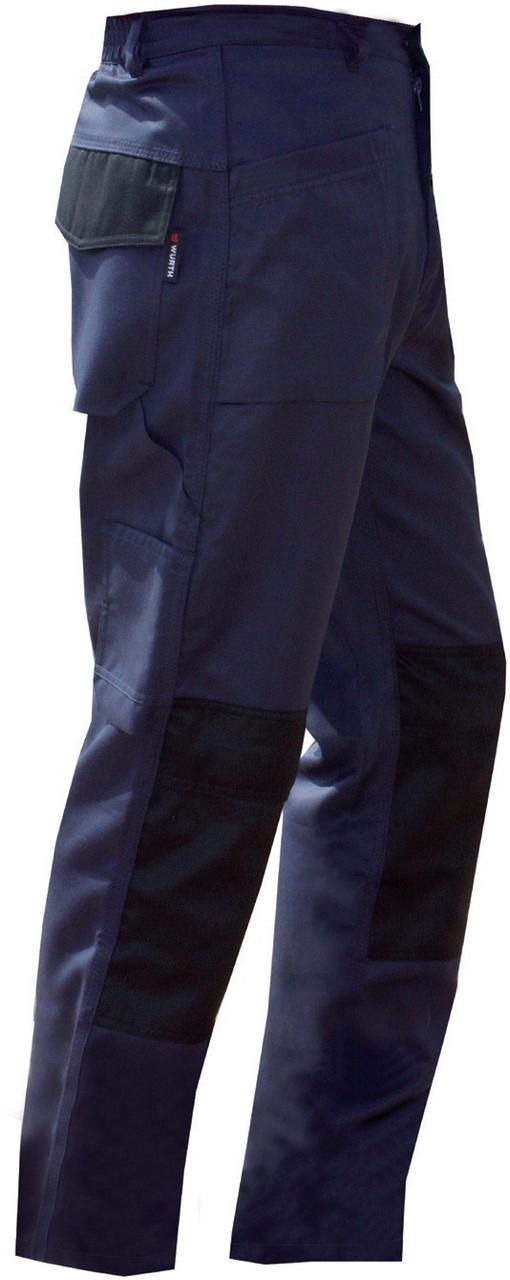 Брюки рабочие синие с черным Wurth