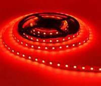 Светодиодная лента 12V smd2835 ІР20 красная 60led негерметичная