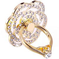 Держатель-кольцо для смартфона Lesko S985 Цветок White, фото 1