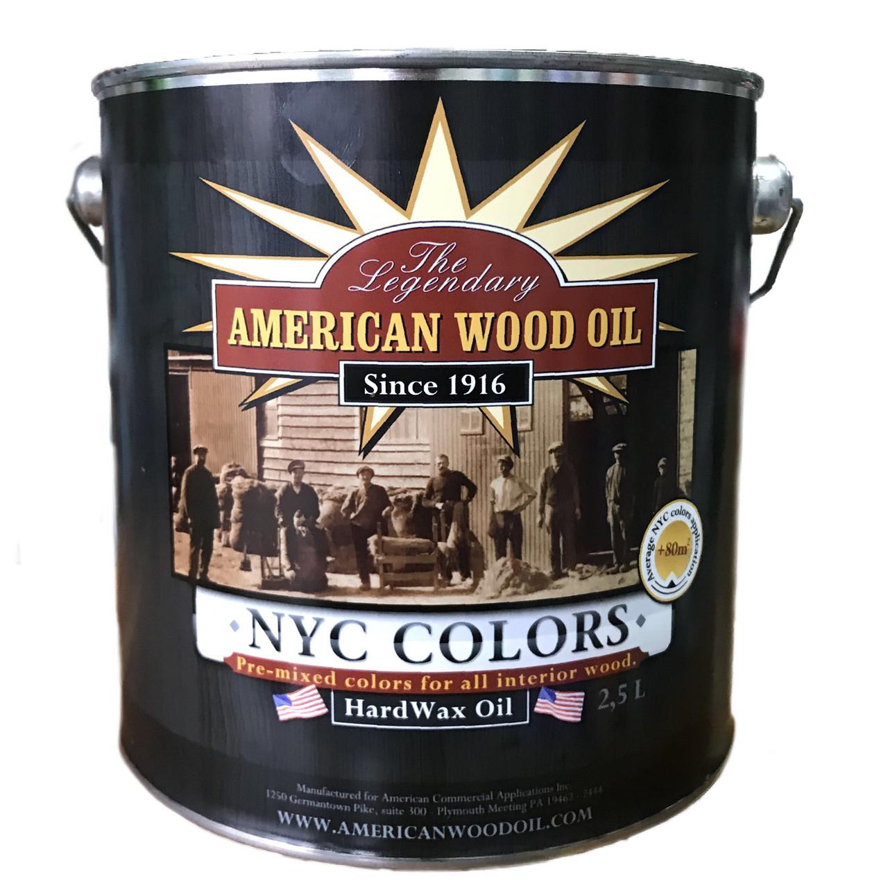 Масло-віск American Wood Oil Hard Wax Oil NYC Colors 2.5л Passaic