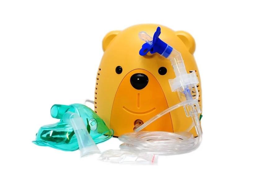 Детский компрессорный ингалятор (небулайзер) МИШКА