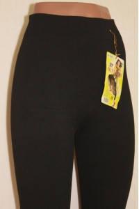 Лосины термо женские бесшовные хлопок махровые Шугуан, чёрные, 1218-2