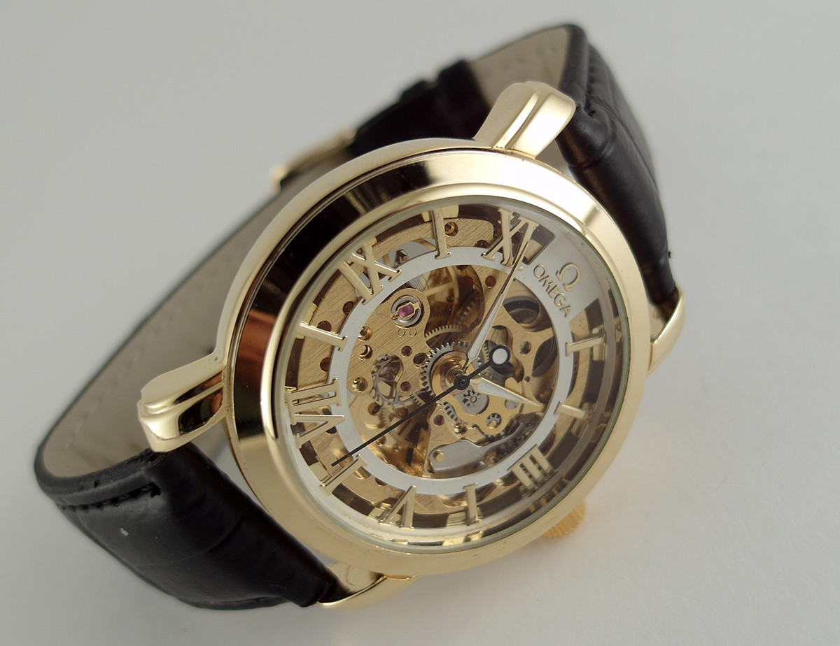 3b2b4068ebaed1 Мужские часы Omega skeleton, механика с автозаводом, светлый циферблат -  4asovoy в Киеве