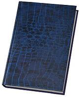 Ежедневник А6 Economix недатированный Croco синий E21728-02