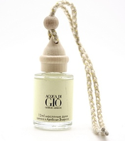 "Ароматизатор в авто парфюмированный масляный Giorgio Armani ""Acqua di Gio"" мужской, бутылочка 12 мл"