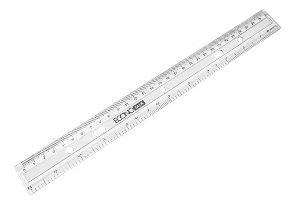 Лінійка 30 см пластикова прозора, Economix (E81302)