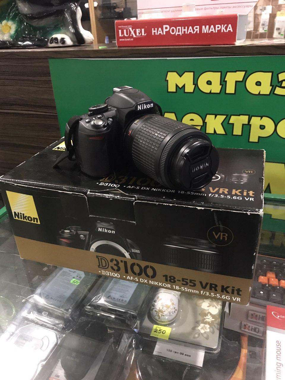 Зеркальный фотоаппарат Nikon D3100 + AF-S Nikkor 55-200mm f/4-5.6G AF-S ED VR