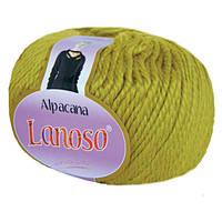 Зимняя пряжа Lanoso Alpacana 3018 25% альпака фисташка