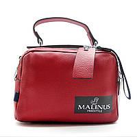 Стильная женская кожаная сумочка красного цвета МАLINUS ВВВ-200059, фото 1