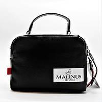 Стильная женская кожаная сумочка черного цвета МАLINUS ВВВ-200061, фото 1