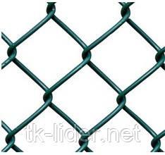 Сетка рабица, сетка рабица в рулонах, ячейка 30x30 мм, 10000x2000 мм,  д= 1.5 мм оц